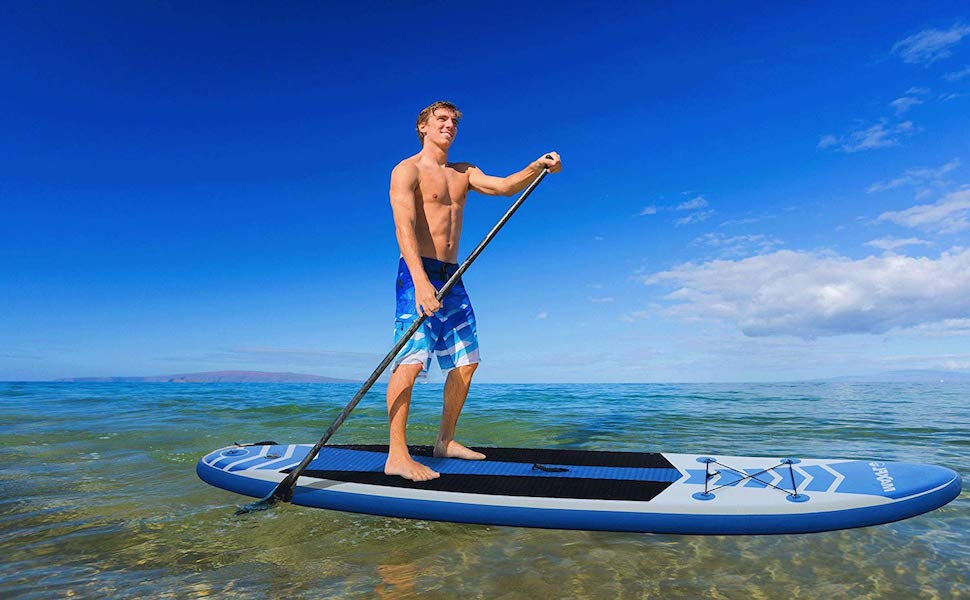 "Amazon.com : Inflatable Stand Up Paddle Board 10'6"" Long 6"" Thick 